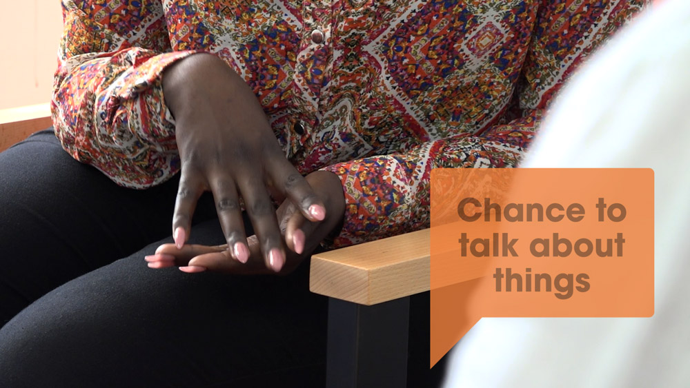 Screenshot from Croydon IAPT promotional videos about client counselling