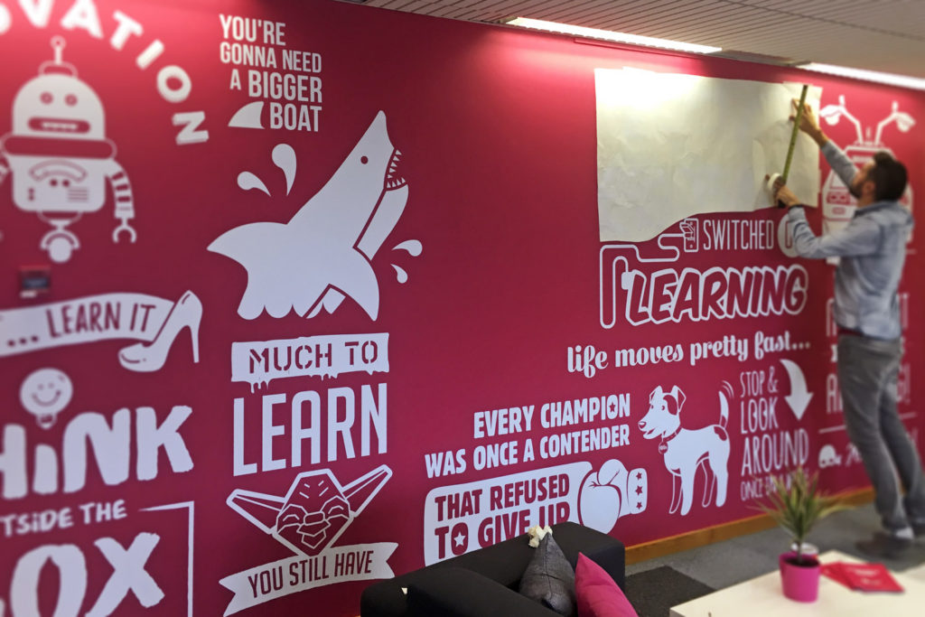 Building the Onclick Office Wall Mural