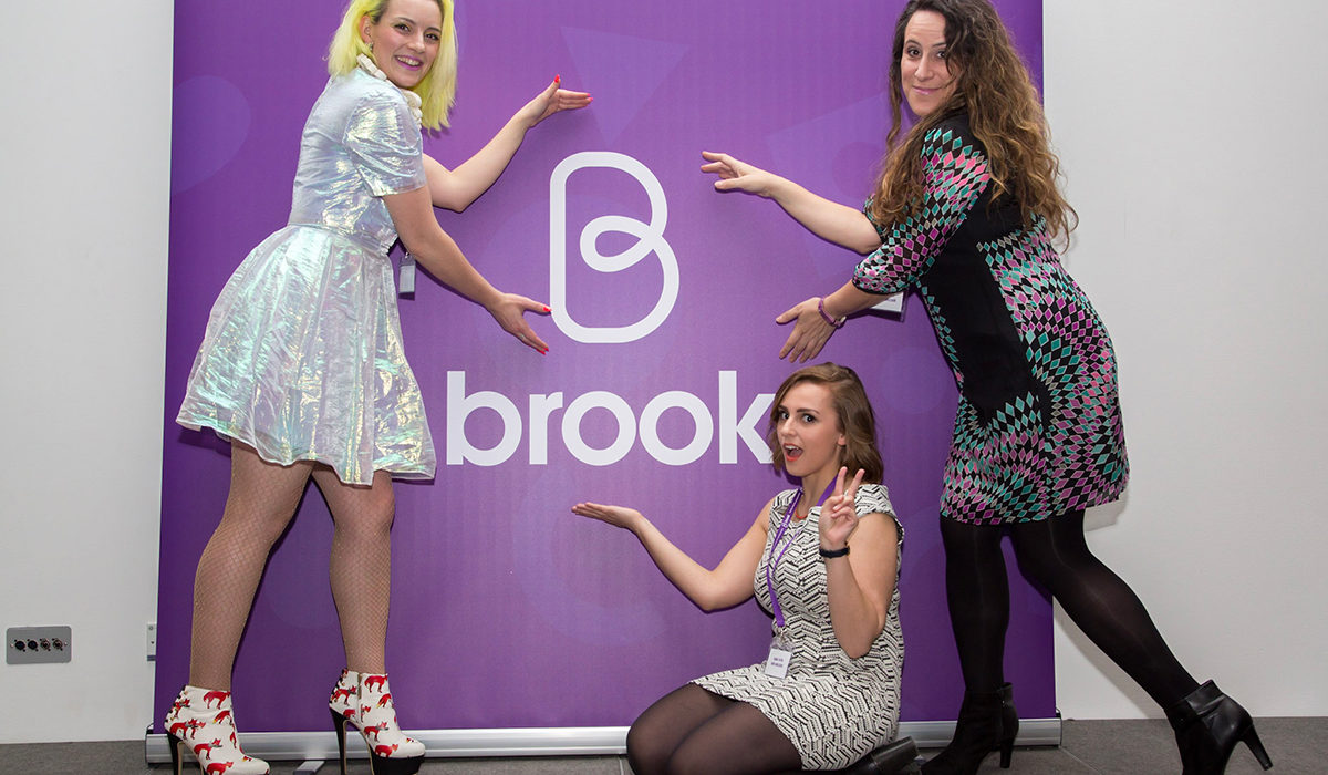 Brook ambassadors Hannah Witton and Alix Fox at rebrand launch