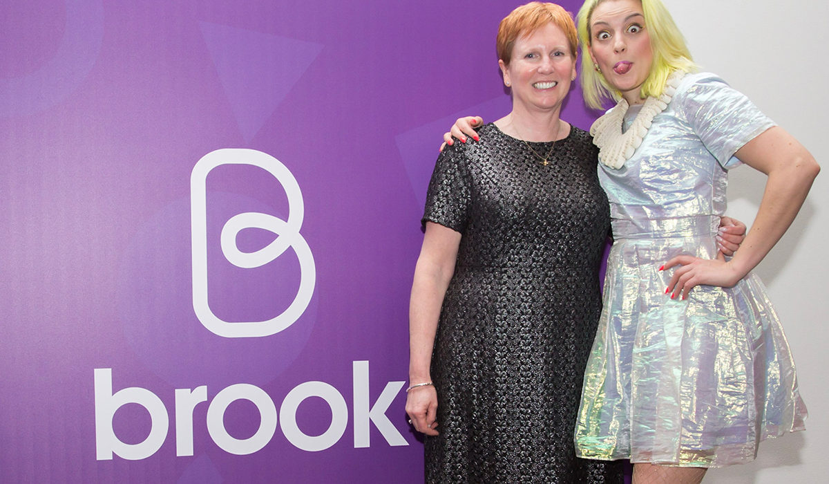 Brook CEO, Helen Marshall and ambassador Alix Fox